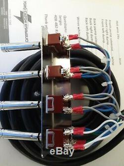 Lowrider hydraulics (PRE-WIRED) 2-PUMP+4 DUMPS F-B-BL-BR17 FT CORD. ANY COLOR
