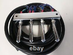 Lowrider hydraulics (PRE-WIRED) 3-PUMP -4DUMPS F-B-BL-BR KIT With17 FT CORD