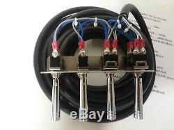 Lowrider hydraulics PRE-WIRED CLEAR JEWEL 2-PUMP-4DUMP F-B-BL-BR 4 SWITCH 17 FT
