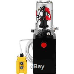 Single Acting Hydraulic Pump 12v Dump Trailer 6 Quart Metal Reservoir