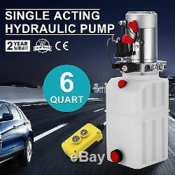 Single Acting Hydraulic Pump 12v Dump Trailer 6 Quart Translucent Reservoir