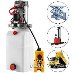 Single & Double Hydraulic Pump for Dump Trailers 6 Quart 12 VDC with Reservoir