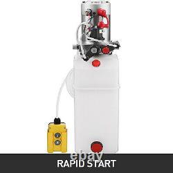 VEVOR 10 Quart Double Acting Hydraulic Pump Dump Trailer Power Unit 12V 3200 PSI