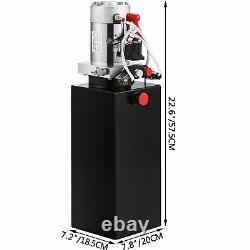 VEVOR Double Acting Power Unit Hydraulic Pump 12V Dump Trailer Pump with 10qt Tank