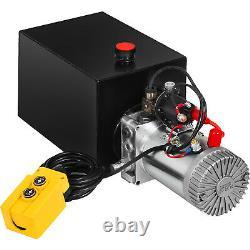 VEVOR Single Acting Hydraulic Pump 12V Dump Trailer Pump 13Quart Power Unit Pack