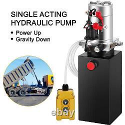 VEVOR Up 6 Quart Single Acting Hydraulic Power Dump Trailer Metal Reservoir Seat