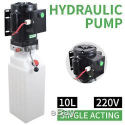 10 L Simple Effet Pompe Hydraulique Remorque À Déchargement 220v Unité Voiture Ascenseur Rampe