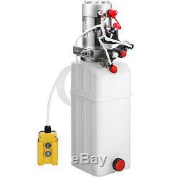 10 Pintes Double Effet Pompe Hydraulique Remorque À Déchargement Déchargement De Contrôle Kit 12v