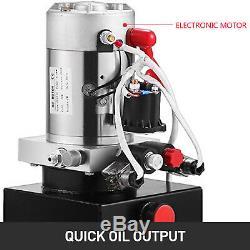 10 Pintes Double Effet Pompe Hydraulique Remorque À Déchargement Kit De Contrôle Unité De Levage Paquet