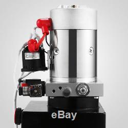 10 Pintes Pompe Hydraulique Double Effet Remorque Benne Grue De Levage 12v