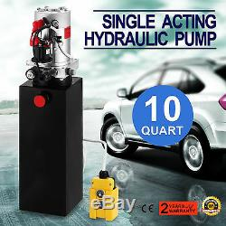 10 Pintes Simple Effet Pompe Hydraulique Remorque À Benne Basculante Fer Wagon-grue