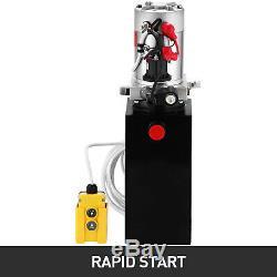 10 Pintes Simple Effet Pompe Hydraulique Remorque À Déchargement 12v De Contrôle À Distance Kit