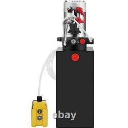 10 Pintes Simple Effet Pompe Hydraulique Remorque À Déchargement 12v Unité Unité Pack
