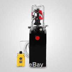 10 Pintes Simple Effet Pompe Hydraulique Remorque À Déchargement De Levage À Distance Réservoir