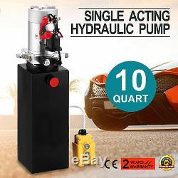 10 Pintes Simple Effet Pompe Hydraulique Remorque À Déchargement Grutage Réservoir