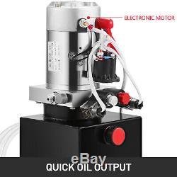 10 Pintes Simple Effet Pompe Hydraulique Remorque Benne Fer Wagon-grue
