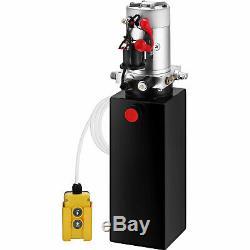 10 Pintes Simple Effet Pompe Hydraulique Remorque Benne Grue Déchargement Réservoir