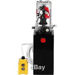 10 Pintes Simple Effet Pompe Hydraulique Remorque Benne Levage Fer Power Unit