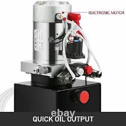 10 Quart Single Acting Hydraulic Pump Dump Trailer 12v Power Unit Pack (en Français Seulement)