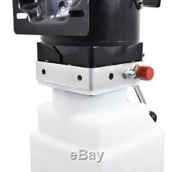 10l Pompe Hydraulique Simple Effet Dump Remorque 220v Unité De Levage Pour Voiture