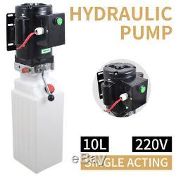 10l Simple Effet Pompe Hydraulique Remorque À Déchargement Réservoir Unité Plastique Paquet Hoist