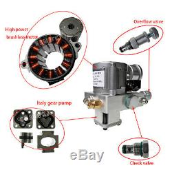10mpa Simple Effet Hydraulique Pompe À Huile Dump Remorque Unité D'alimentation DC 12v Unité Pack