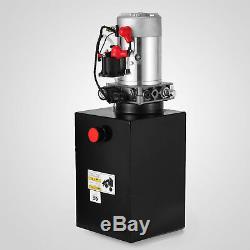 12 Pintes 12v DC Simple Effet Pompe Hydraulique Remorque À Benne Basculante Réservoir En Acier