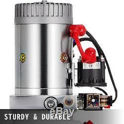 12 Pintes Double Effet Pompe Hydraulique Remorque À Déchargement D'alimentation 12v Unité De Levage