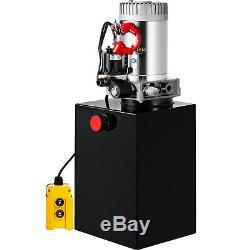 12 Pintes Double Effet Pompe Hydraulique Remorque À Déchargement Kit De Contrôle Réservoir 12v