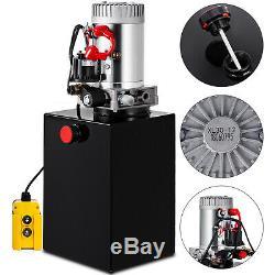 12 Pintes Pompe Hydraulique Double Effet Dump Trailer Déchargement Réservoir Voiture