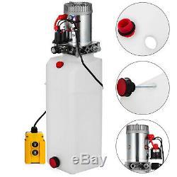 12 Pintes Simple Effet Pompe Hydraulique Remorque À Déchargement Déchargement D'alimentation Unité De Voiture