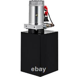 12 Quart Double Acting Hydraulic Pump Dump Trailer Control Kit 12v Réservoir