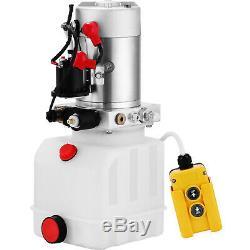 12 Volt Pompe Hydraulique Pour Benne Remorque 4 Pintes Poly Simple Effet