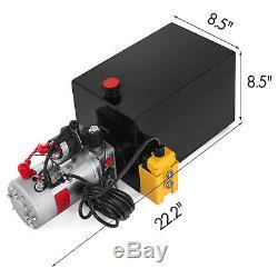 12 Volt Pompe Hydraulique Pour Dump Trailer 15 Pintes En Acier Simple Effet