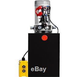 13 Pintes Simple Effet Pompe Hydraulique Remorque À Déchargement Ascenseur À Distance Réservoir