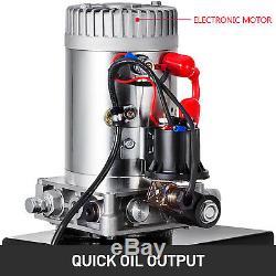 13 Pintes Simple Effet Pompe Hydraulique Remorque À Déchargement Déchargement 12v Unité D 'emballage