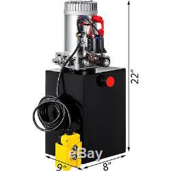 13 Pintes Simple Effet Pompe Hydraulique Remorque À Déchargement Fer Déchargement 12v