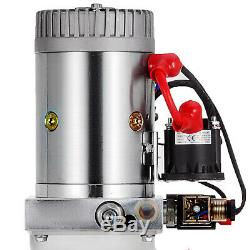 15 Pintes Double Effet Pompe Hydraulique Benne Remorque De Levage Kit De Contrôle Unité Pack