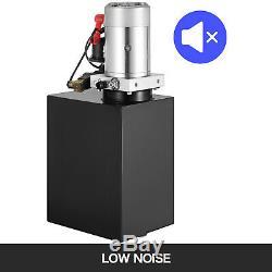 15 Pintes Double Effet Pompe Hydraulique Remorque À Déchargement 12v De Levage Unité De Puissance