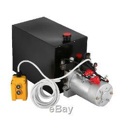 15 Pintes Double Effet Pompe Hydraulique Remorque À Déchargement Unité D'alimentation Camion À Benne Basculante DC 12v