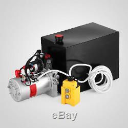 15 Pintes Double Effet Pompe Hydraulique Remorque À Déchargement Unité Pack De Grue À Distance