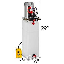15 Pintes Double Effet Pompe Hydraulique Remorque Benne Grue Réservoir Voiture