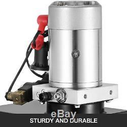 15 Pintes Double Effet Pompe Hydraulique Remorque Benne Levage Fer 12v