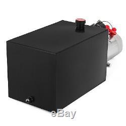 15 Pintes Simple Effet Pompe Hydraulique Remorque À Déchargement 12v De Levage Kit De Contrôle