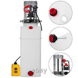 15 Pintes Simple Effet Pompe Hydraulique Remorque À Déchargement De Contrôle À Distance Kit Unité D'alimentation