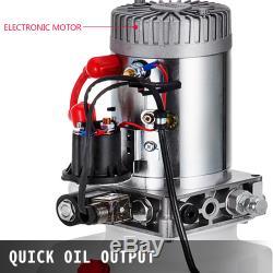 15 Pintes Simple Effet Pompe Hydraulique Remorque À Déchargement Levage 12v En Plastique