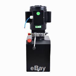 2.64 / 3.7 Gallon Simple Effet Pompe Hydraulique Remorque À Déchargement Car Control Kit Lift