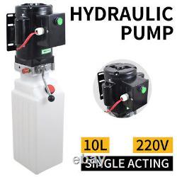 2,64 Gallons À Action Unique Déchargement De La Remorque De Déchargement Hydraulique Remorque Power Unit Crane Déchargement