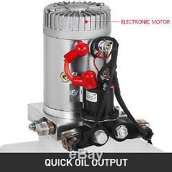 20 Pintes Double Effet Pompe Hydraulique Dump Remorque 12v Unité De Levage