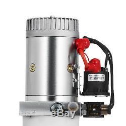 20 Pintes Double Effet Pompe Hydraulique Remorque À Déchargement Réservoir Kit Car Control